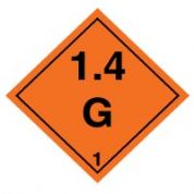 Hazard safety sign - Explosive 1.4G 026